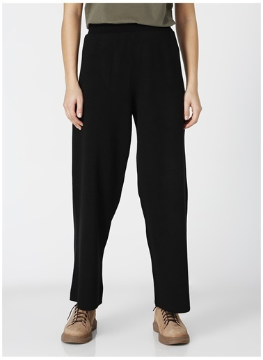 Fabrika Fabrika Bilek Boy Geniş Kesim Bol Paça Kadın Pantolon Siyah